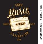 music cassette print   good... | Shutterstock .eps vector #618537401
