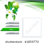 bright  template for web site.... | Shutterstock .eps vector #61853773
