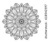 mandala. black and white... | Shutterstock .eps vector #618542597