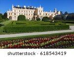 romantic castle lednice with... | Shutterstock . vector #618543419