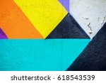 graffity wall. abstract detal... | Shutterstock . vector #618543539