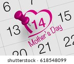 mother's day is observed the... | Shutterstock . vector #618548099