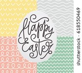 happy easter card with a... | Shutterstock .eps vector #618550469