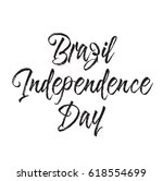 brazil independence day  text... | Shutterstock .eps vector #618554699