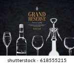 wine list design. vector menu... | Shutterstock .eps vector #618555215