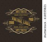 vintage typographic label... | Shutterstock .eps vector #618555821
