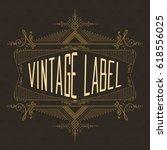 vintage typographic label... | Shutterstock .eps vector #618556025