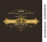 vintage typographic label