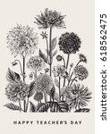 greeting card. vector botanical ... | Shutterstock .eps vector #618562475