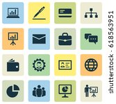 trade icons set. collection of...   Shutterstock .eps vector #618563951