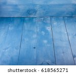 blue background. wooden blue... | Shutterstock . vector #618565271