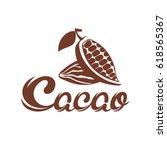 cacao logo. | Shutterstock .eps vector #618565367