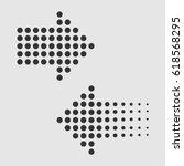 dots arrows in flat style.... | Shutterstock .eps vector #618568295