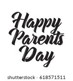 happy parents day  text design. ...   Shutterstock .eps vector #618571511