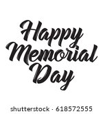happy memorial day  text design.... | Shutterstock .eps vector #618572555