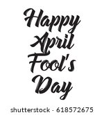 happy april fool's day  text... | Shutterstock .eps vector #618572675