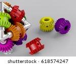 3d rendering gear assembly... | Shutterstock . vector #618574247