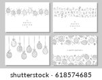 collection of happy easter... | Shutterstock .eps vector #618574685