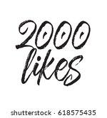 2000 likes  text design. vector ... | Shutterstock .eps vector #618575435