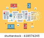laptop  computer and mobile... | Shutterstock .eps vector #618576245