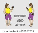 vector flat illustration fat... | Shutterstock .eps vector #618577319