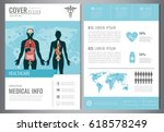 medical brochure design... | Shutterstock .eps vector #618578249
