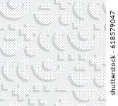 seamless pattern in 90 80 style ... | Shutterstock .eps vector #618579047