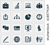 trade visitor icons set.... | Shutterstock .eps vector #618579269