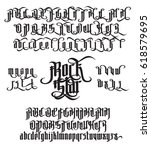 rock star   modern gothic style ...   Shutterstock .eps vector #618579695
