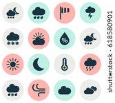 meteorology icons set.... | Shutterstock .eps vector #618580901