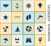 hot icons set. collection of... | Shutterstock .eps vector #618582161