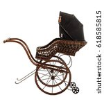 Vintage Stroller Isolated On...