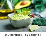 sauce from avocado | Shutterstock . vector #618588467