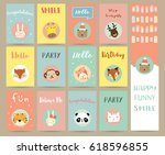 pink blue green collection for... | Shutterstock .eps vector #618596855