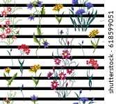 embroidery flowers pattern....   Shutterstock .eps vector #618599051