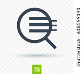 magnifier zoom line vector icon   Shutterstock .eps vector #618599141