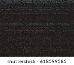 corrupted source code. modern... | Shutterstock .eps vector #618599585