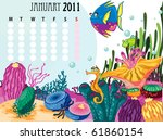 illustration of a calender on a ... | Shutterstock . vector #61860154