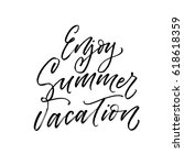 enjoy summer vacation postcard. ... | Shutterstock .eps vector #618618359