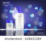 glamorous hair care products... | Shutterstock .eps vector #618621284