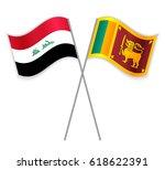 iraqi and sri lankan crossed...   Shutterstock .eps vector #618622391