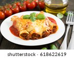 Cannelloni With Meat And Cheese