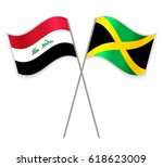 iraqi and jamaican crossed... | Shutterstock .eps vector #618623009