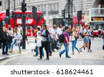 london  uk   august 24  2016 ... | Shutterstock . vector #618624461