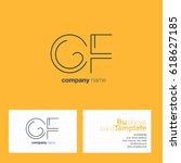 cf  c f  c   f letters joint... | Shutterstock .eps vector #618627185