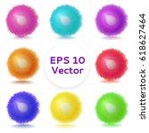 vector realistic fluffy sphere. ... | Shutterstock .eps vector #618627464