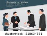 meeting presentation | Shutterstock .eps vector #618634931