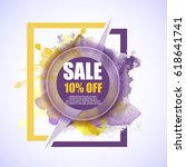 sale  10  discount vector... | Shutterstock .eps vector #618641741