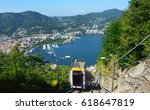 amazing view of lake como with... | Shutterstock . vector #618647819