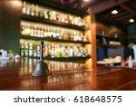 restaurant bell on bar  | Shutterstock . vector #618648575